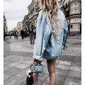 Удлиненные джинсовые куртки женские