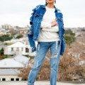 Классические джинсовые куртки женские