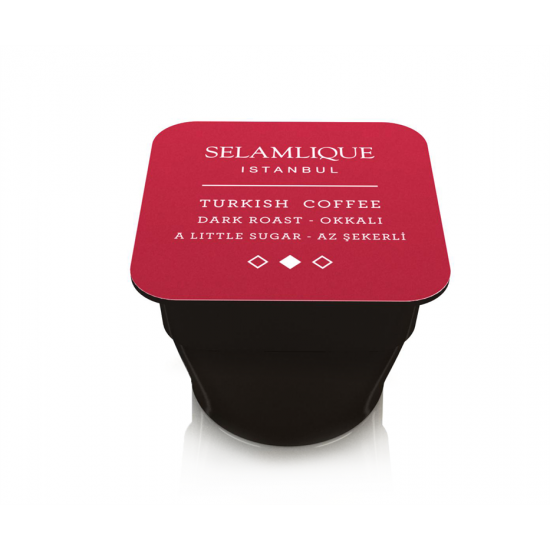 Турецкий кофе тёмной обжарки в капсулах Selamlique (10 капсул)