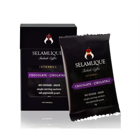 Турецкий кофе с шоколадом Selamlique в пакетиках, 7 гр (7 пакетов)