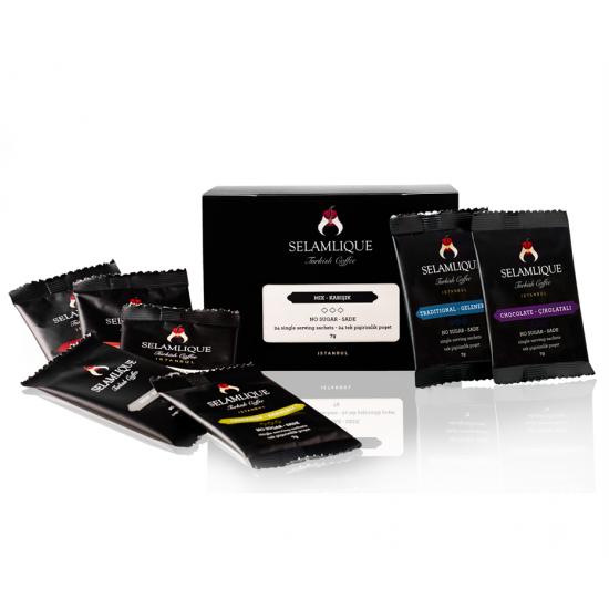 Турецкий кофе Selamlique MIX в пакетиках, 7 гр (24 пакета)